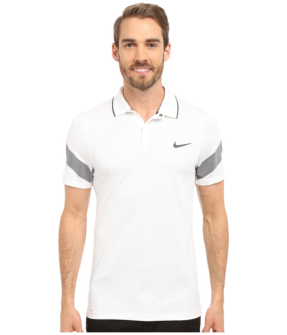 Nike Golf - Momentum Framing Commander (White/Black/Reflect Black) Men's Short Sleeve Pullover