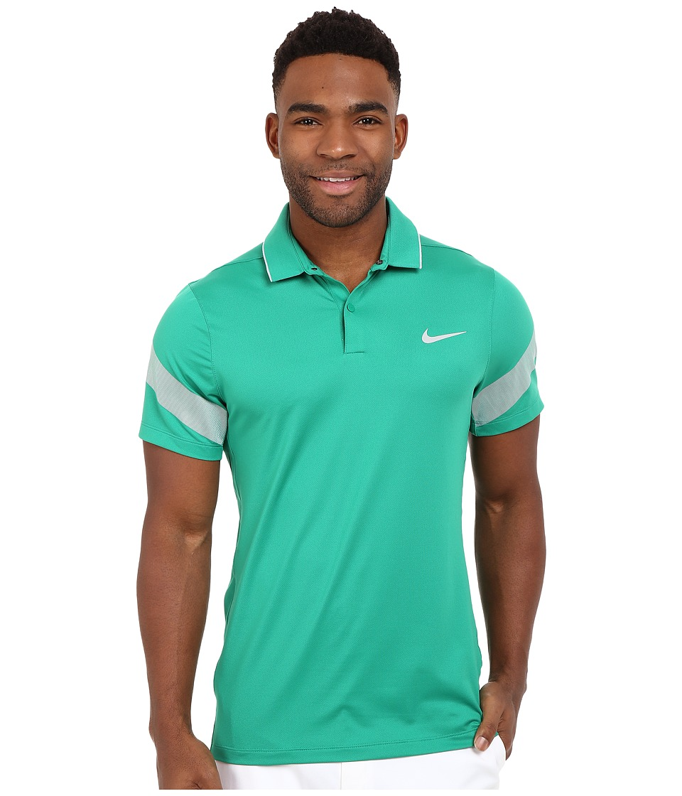 Nike Golf - Momentum Framing Commander (Lucid Green/Midnight Navy/Reflective Silver) Men's Short Sleeve Pullover