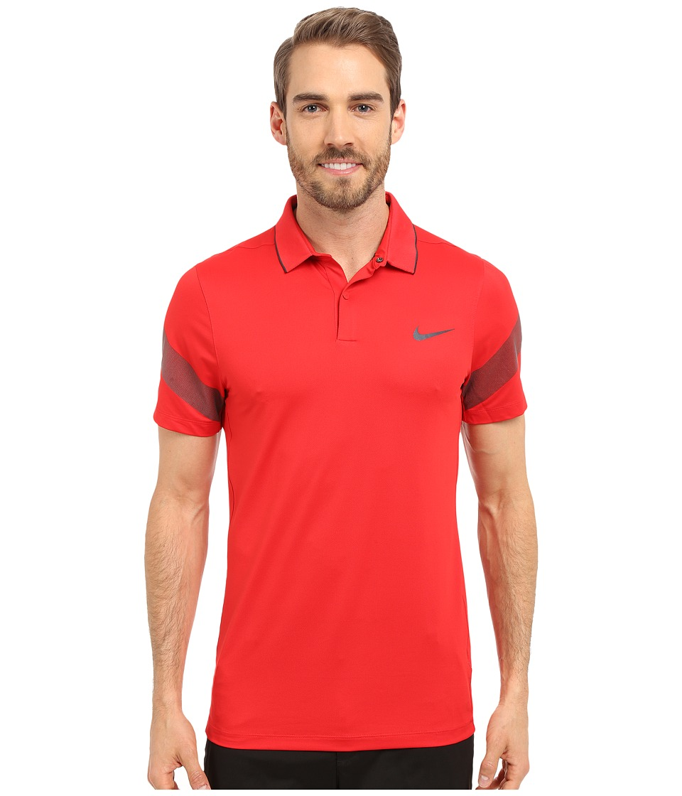 Nike Golf - Momentum Framing Commander (University Red/Black/Reflective Silver) Men's Short Sleeve Pullover