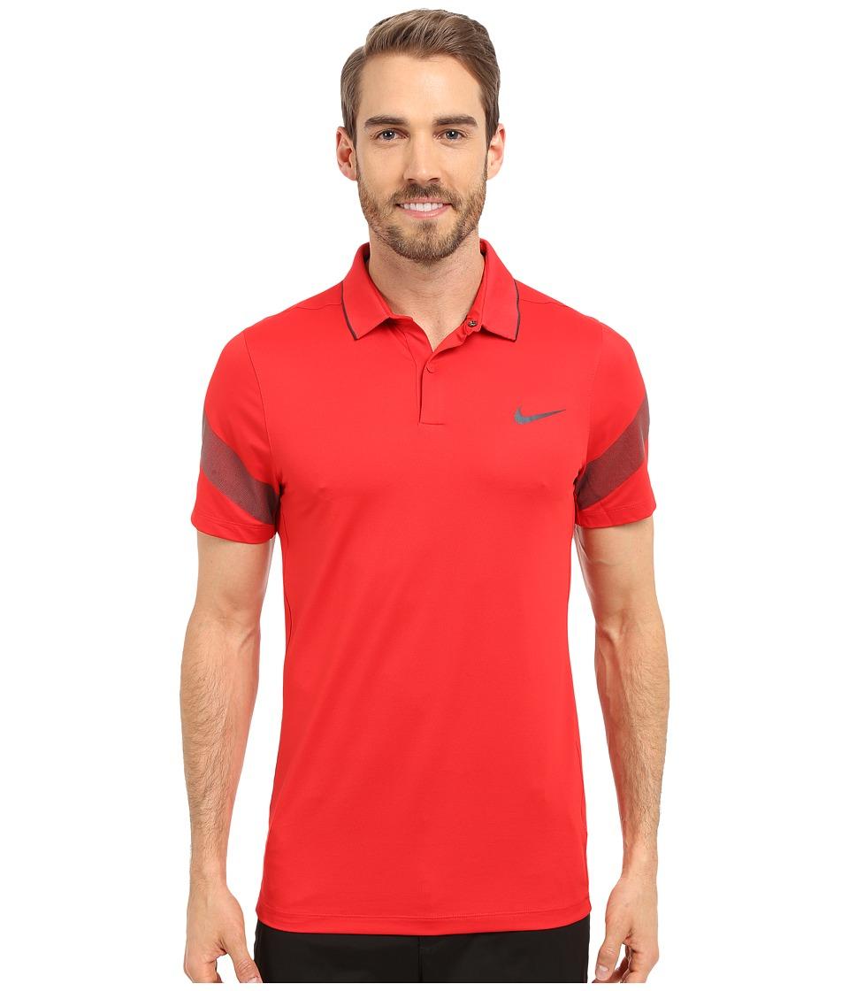 Nike Golf - Momentum Framing Commander (University Red/Black/Reflective Silver) Men's Short Sleeve Pullover