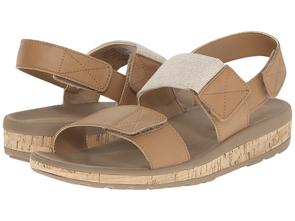 Rockport - Weekend Casuals Keona 2 Band Gore (Rich Tan Smooth) Women's Sandals