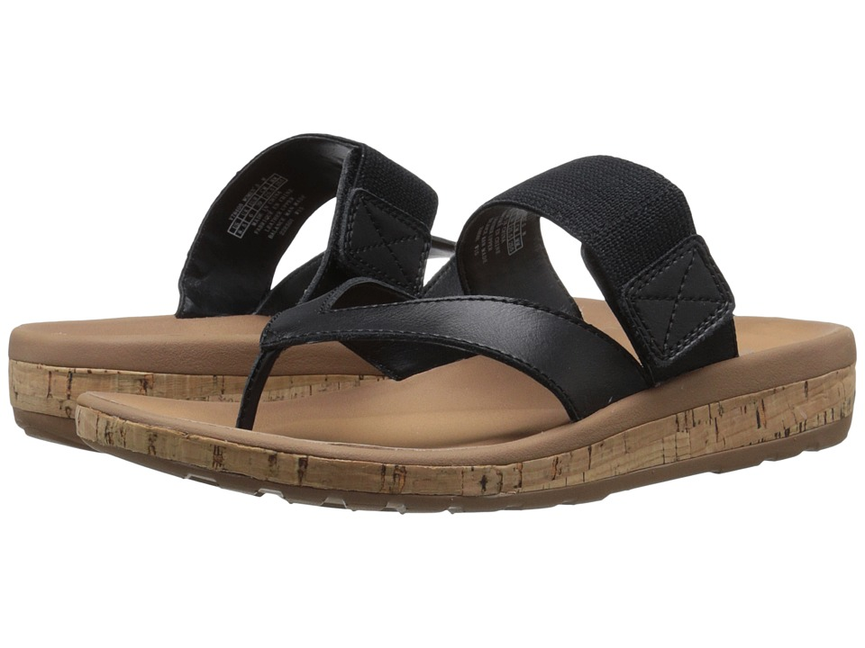 Rockport - Weekend Casuals Keona Gore Thong (Black Smooth) Women's Sandals