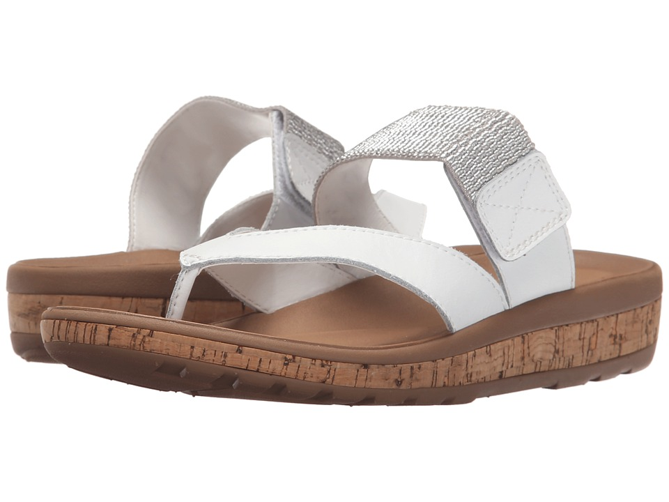 Rockport - Weekend Casuals Keona Gore Thong (White Smooth) Women's Sandals