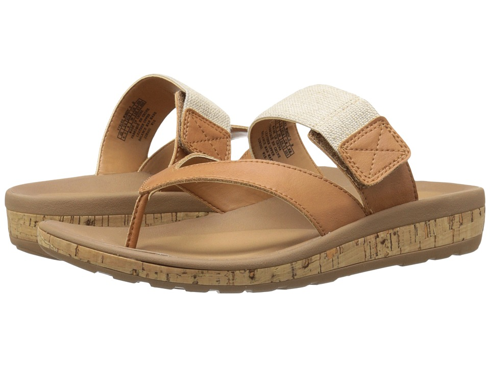 Rockport - Weekend Casuals Keona Gore Thong (Rich Tan Smooth) Women's Sandals