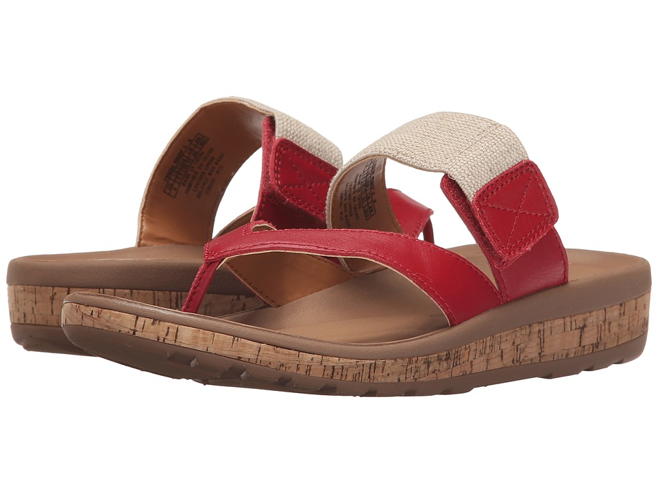 Rockport - Weekend Casuals Keona Gore Thong (Red Pepper Smooth) Women's Sandals