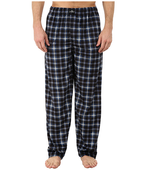 Jockey - Matte Silky Fleece Sleep Pants (Black Multi Plaid 1) Men
