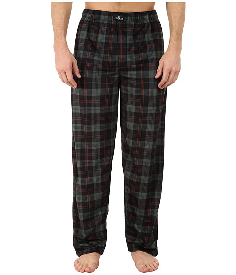 Jockey - Matte Silky Fleece Sleep Pants (Black Multi Plaid) Men's Pajama