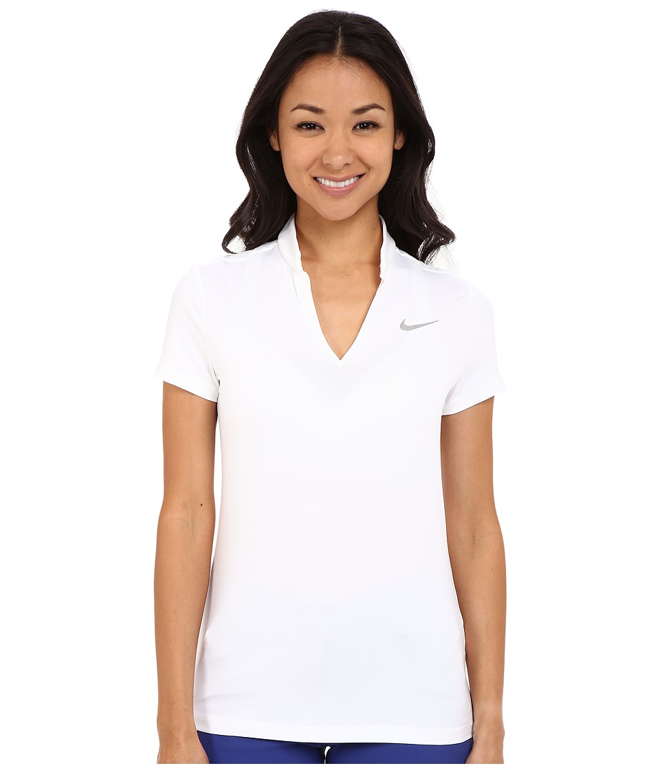 Nike Golf - Ace Melt Away Polo (White/Reflective Silver) Women