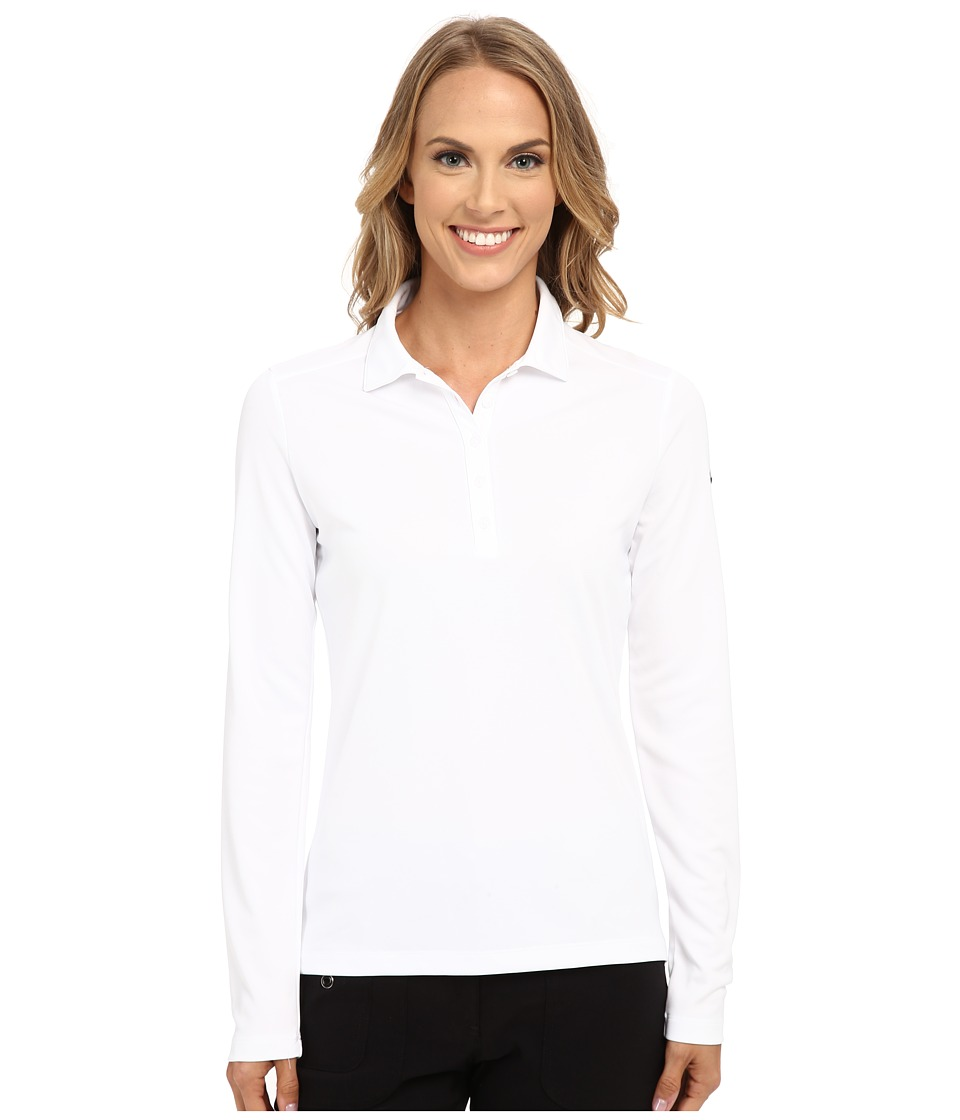 Nike Golf - Victory Long Sleeve Polo (White/Black) Women's Long Sleeve Pullover