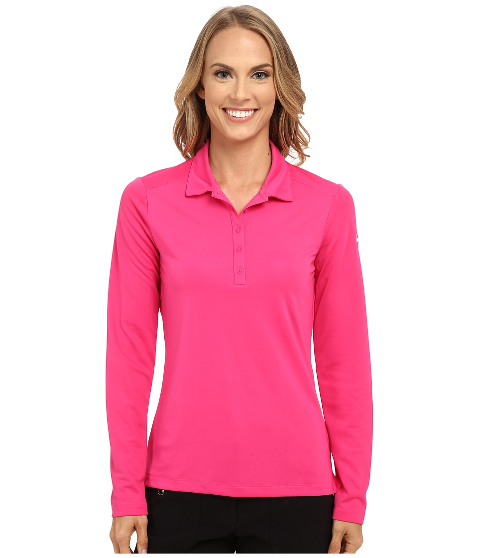 Nike Golf - Victory Long Sleeve Polo (Vivid Pink/White) Women's Long Sleeve Pullover