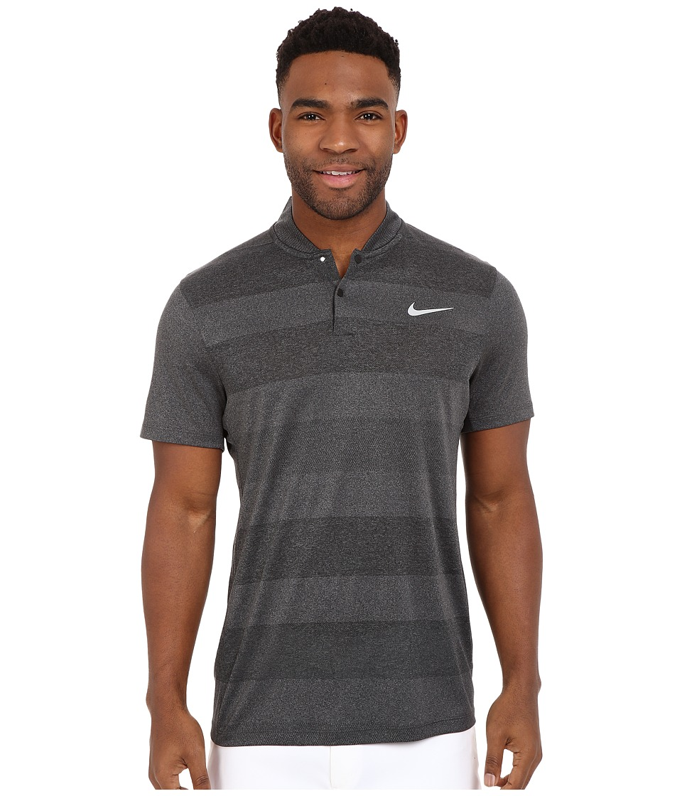 Nike Golf - MM Fly Blade Strip Polo (Black/Reflective Silver) Men's Short Sleeve Pullover