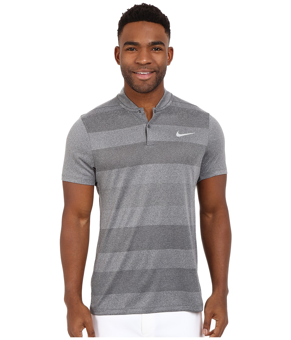 Nike Golf - MM Fly Blade Strip Polo (Dark Grey/Reflective Silver) Men's Short Sleeve Pullover
