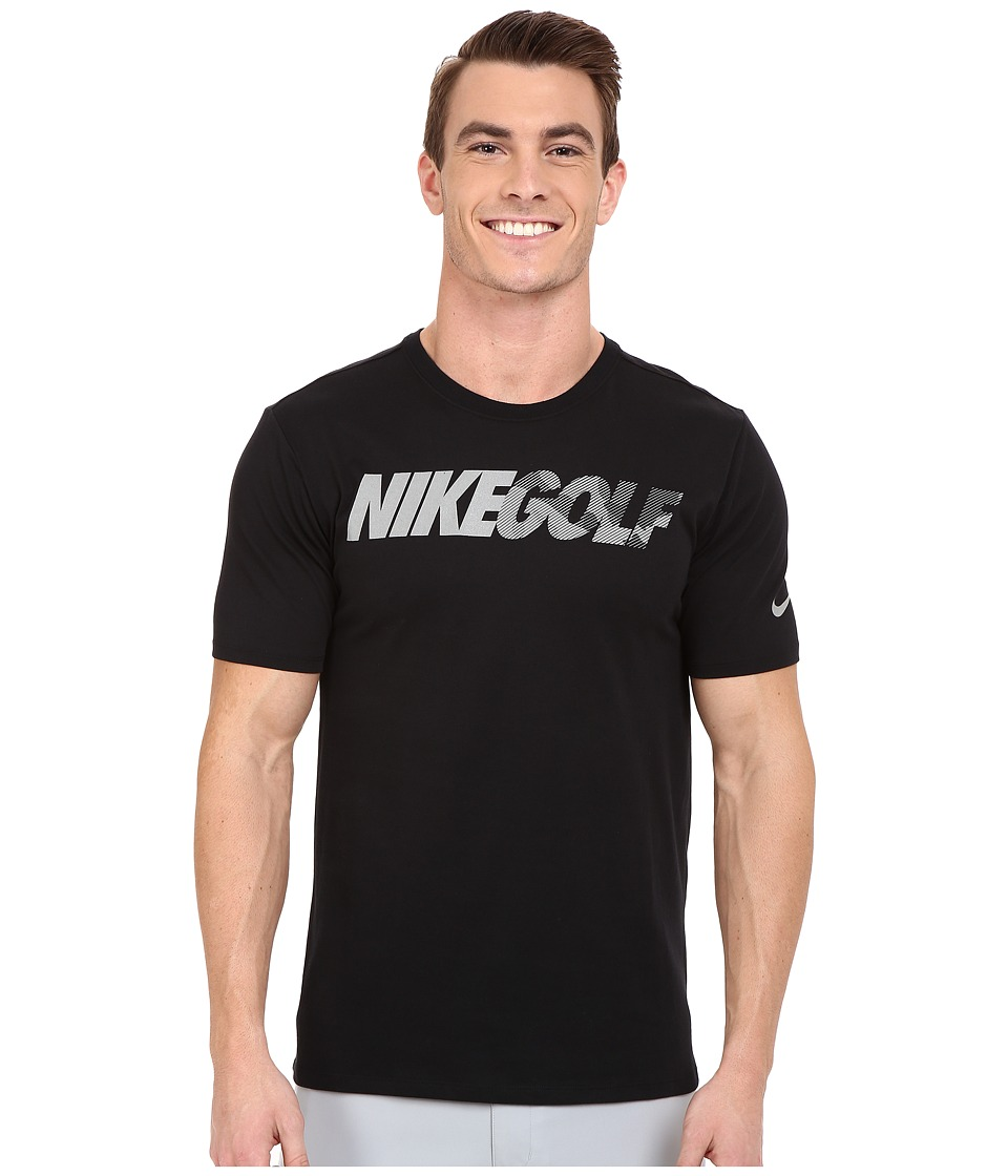 Nike Golf Graphic Tee (Black/Reflective Silver) Men