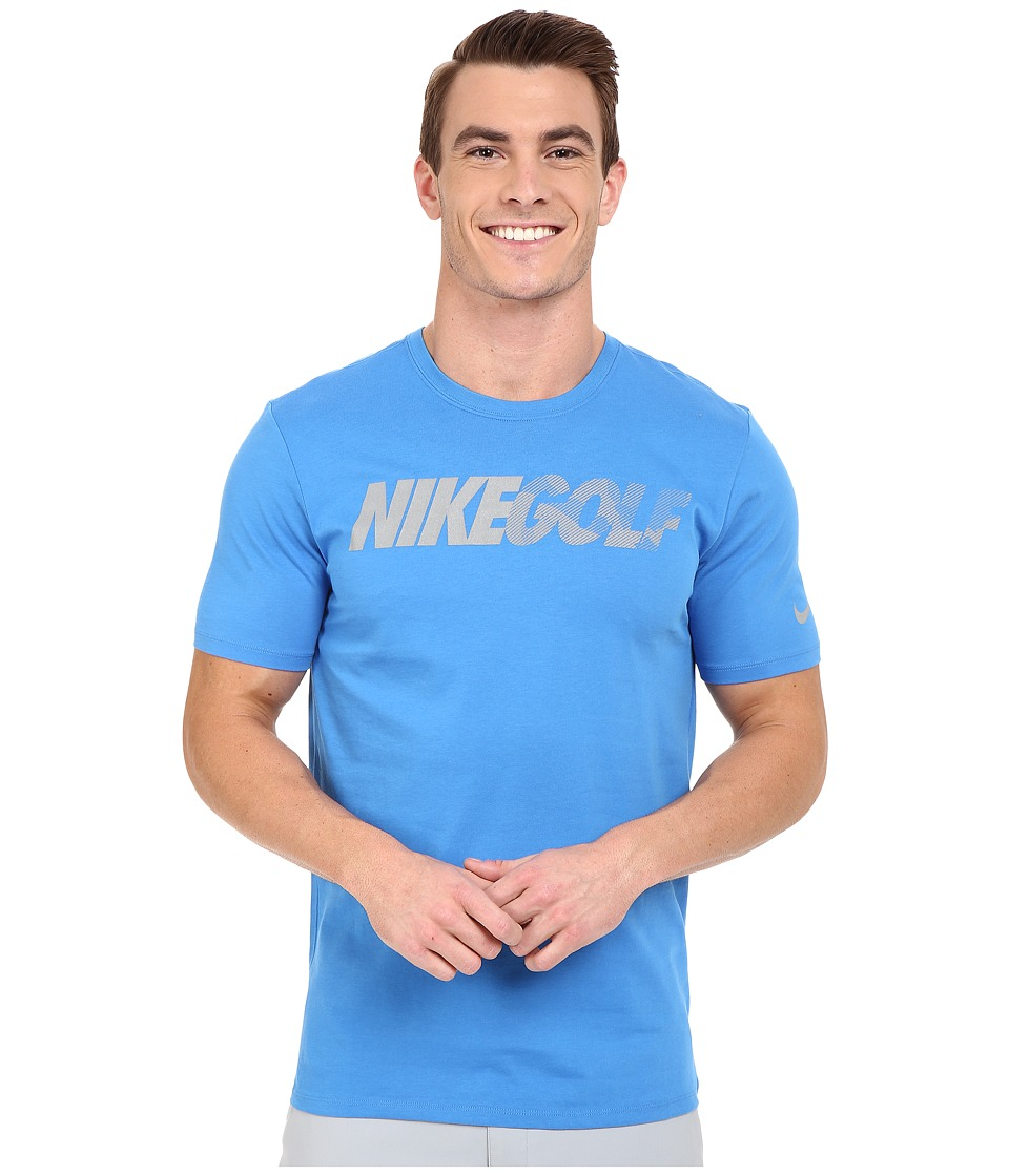 Nike Golf - Graphic Tee (Light Photo Blue/Reflective Silver) Men
