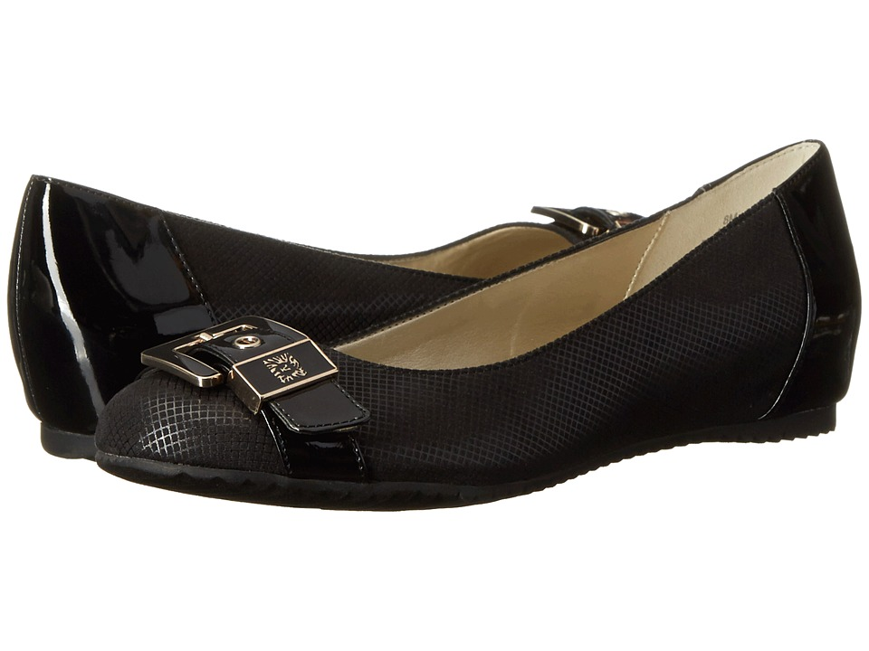 Anne Klein Fen (Black/Black Fabric) Women