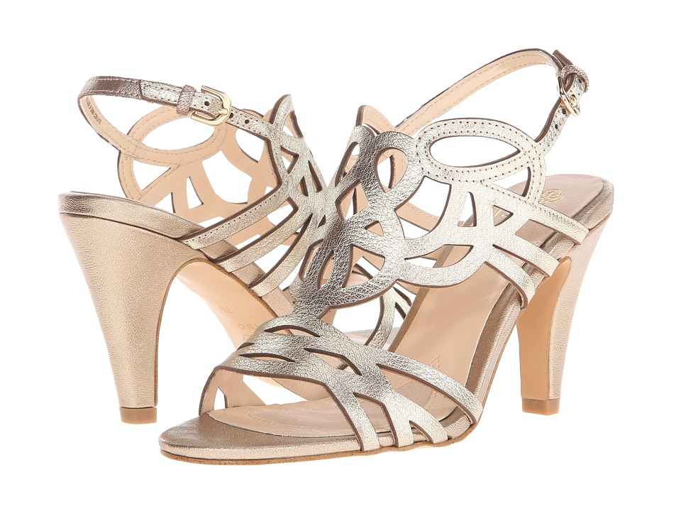 Isola Delano (Satin Gold Grid Metallic) High Heels