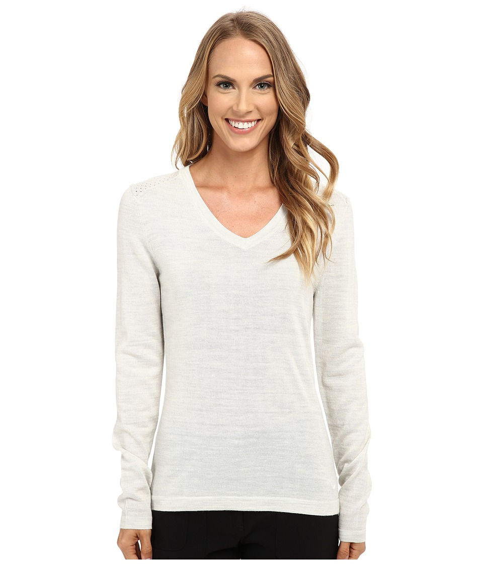 Nike Golf - V-Neck Sweater (Birch Heather/White) Women's Sweater