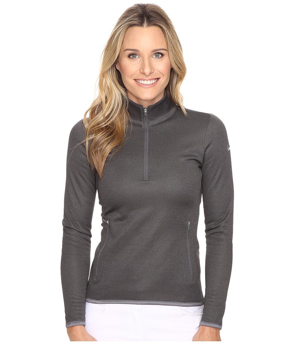 Nike Golf - Thermal 1/2 Zip (Dark Grey/Heather/Wolf Grey) Women's Clothing