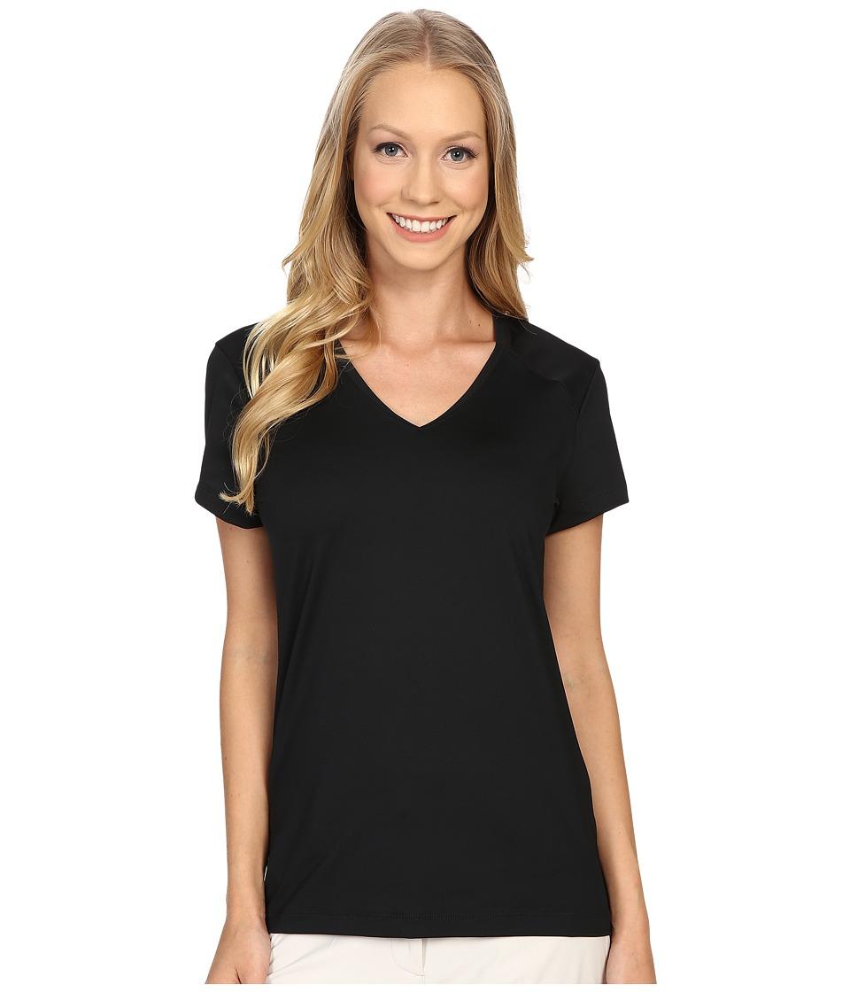 Nike Golf - Greens Top (Black/Metallic Silver) Women's Clothing
