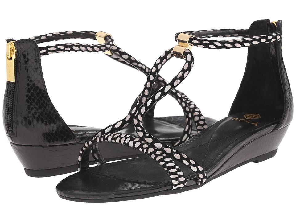 Isola - Elin (Black/White/Black Snake Print) Women's Wedge Shoes