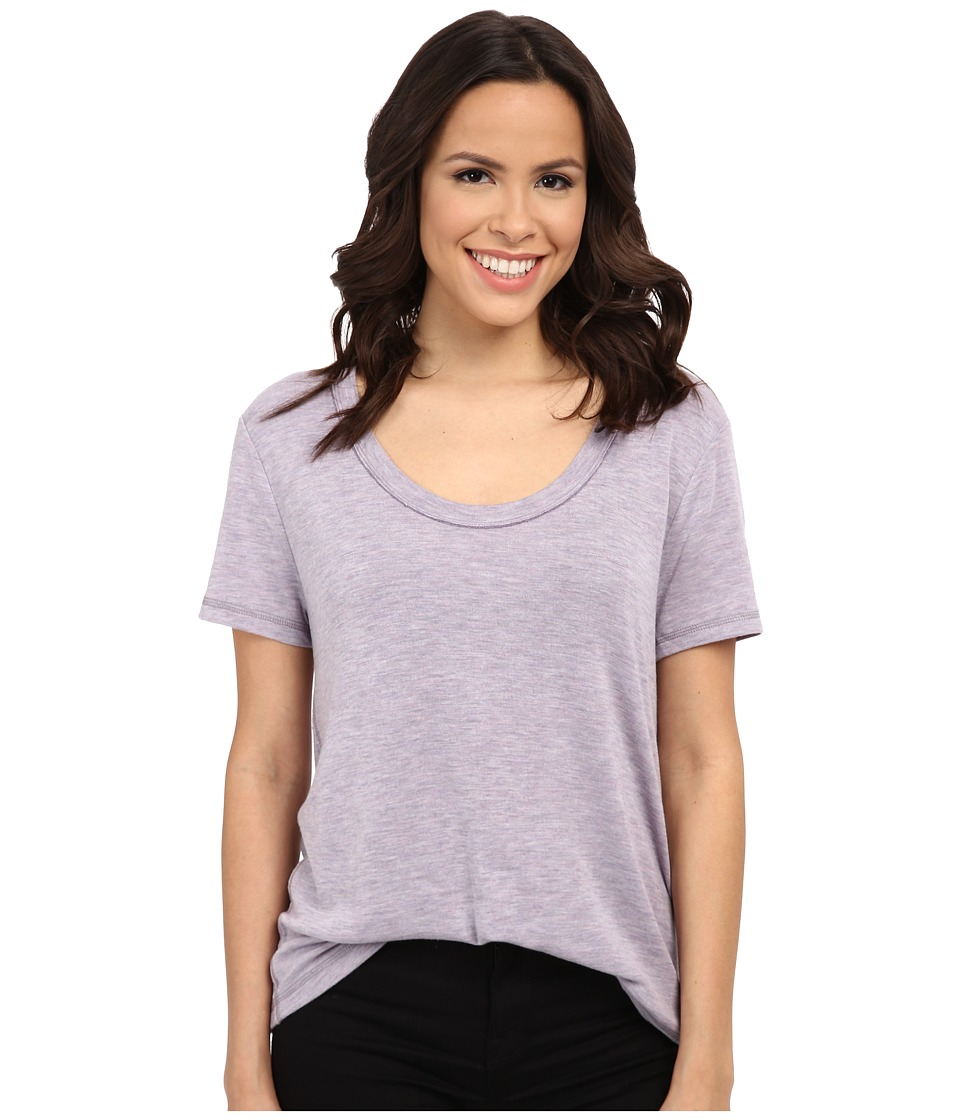 Splendid - Alcove Double Face Jersey Tee (Orchid Ice) Women's T Shirt