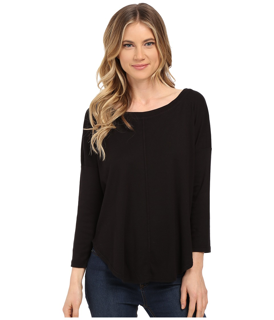 Splendid - 1X1 Scoop Tee (Black) Women's T Shirt