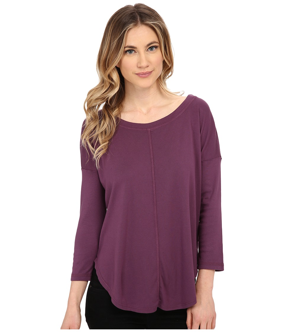 Splendid - 1X1 Scoop Tee (Wild Mulberry) Women's T Shirt