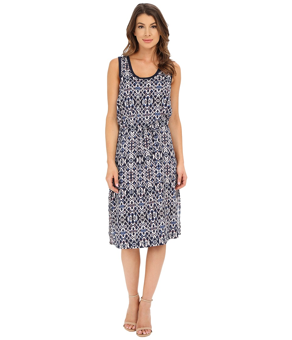 Splendid - Ikat Print Rayon Dress (Navy Multi) Women's Dress