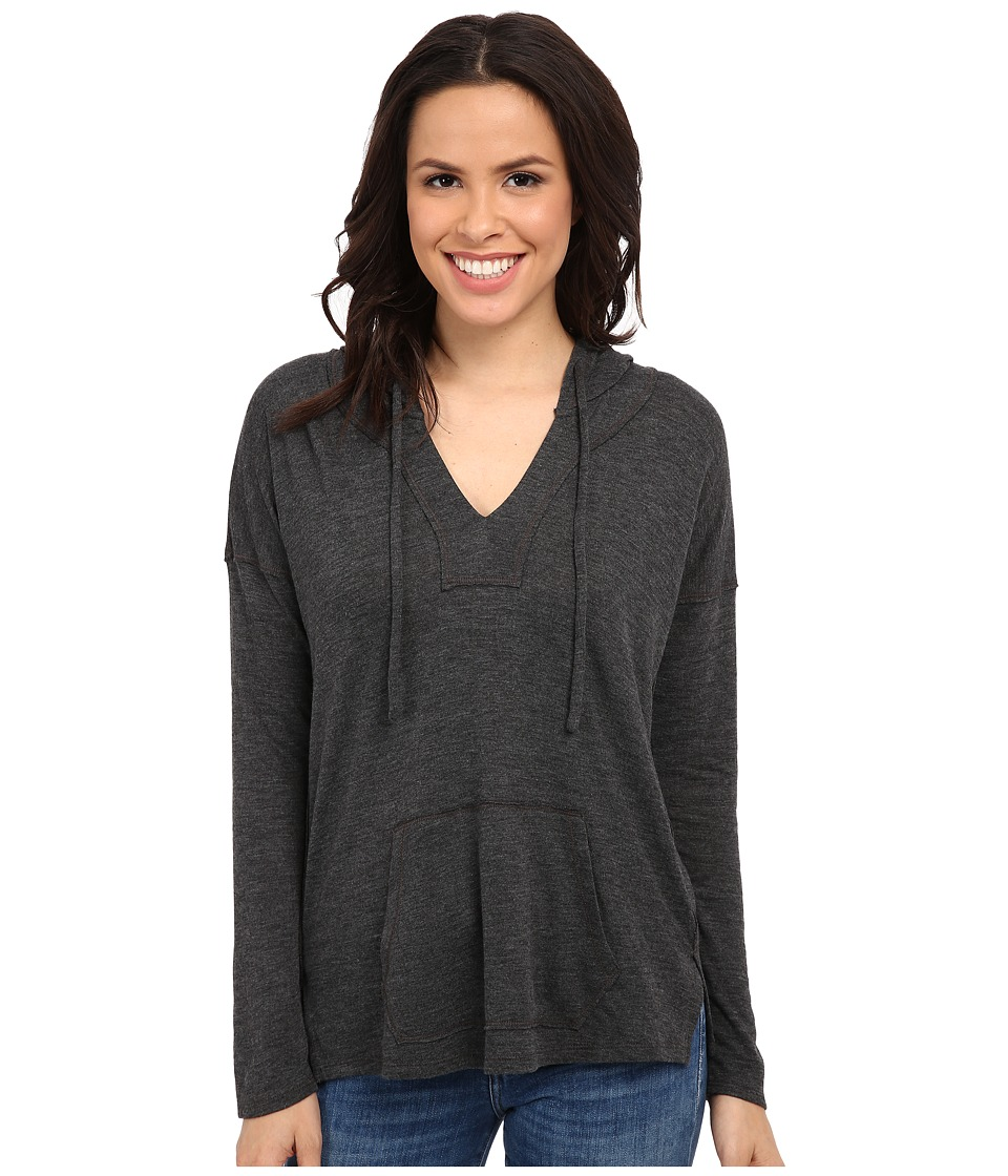 Splendid - Alcove Double Face Jersey Hoodie (Charcoal) Women's Sweatshirt