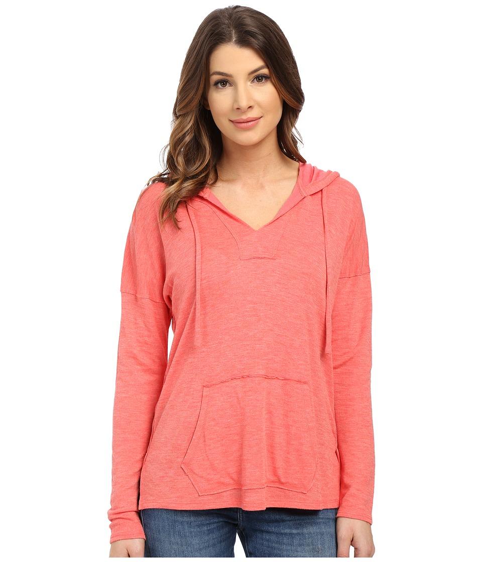 Splendid - Alcove Double Face Jersey Hoodie (Coral Pink) Women's Sweatshirt