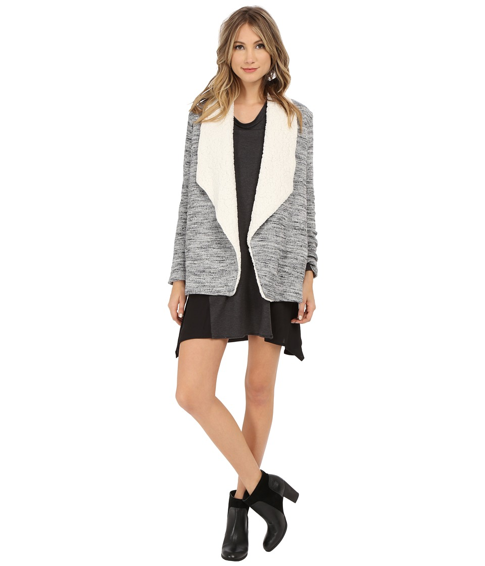 Splendid - Brushed Tri-Blend Poorboy Jacket (Heather Grey) Women's Coat