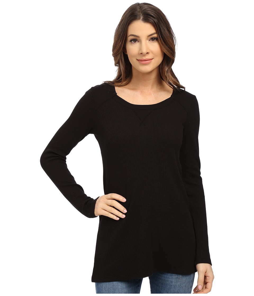 Splendid - Thermal Tunic (Black) Women's Blouse