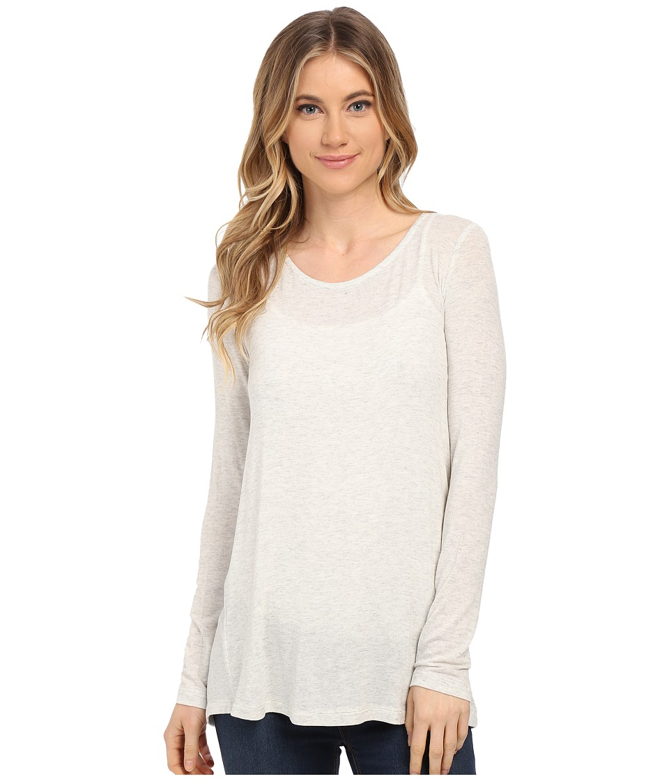 Splendid Drapey Lux Pleat Back Long Sleeve (Perla) Women