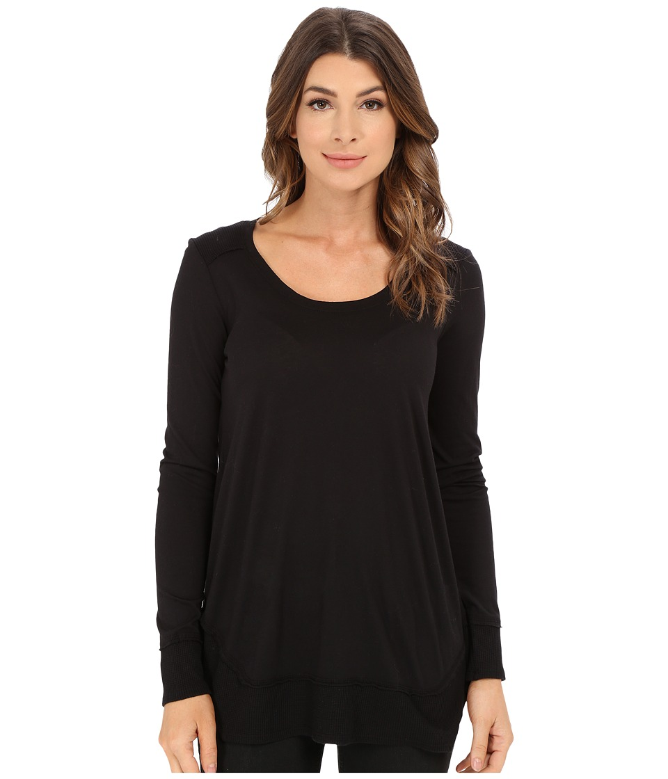 Splendid - Very Light Jersey with Thermal Long Sleeve (Black) Women's Clothing
