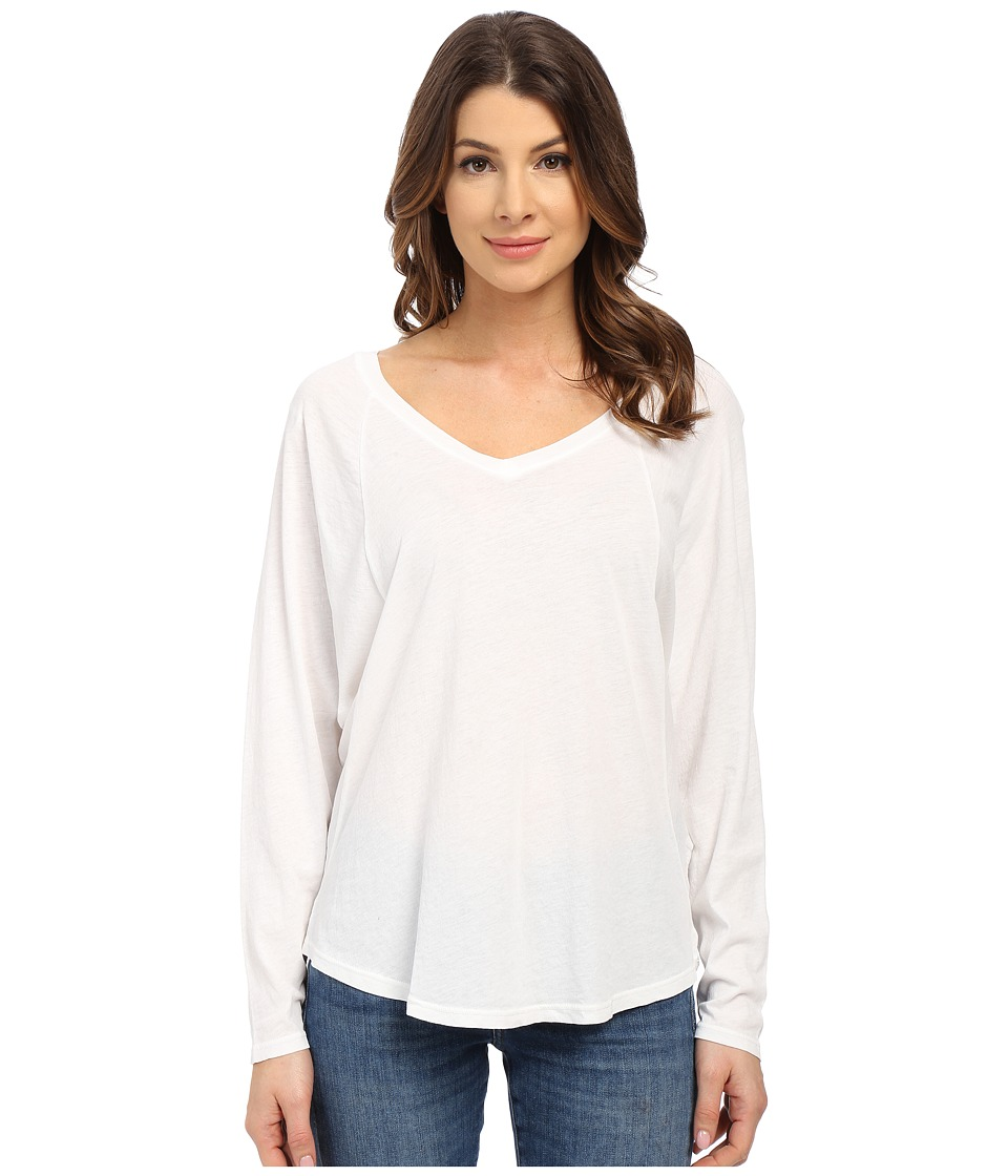 Splendid - Vintage Whisper V-Neck Long Sleeve (Paper) Women's Clothing
