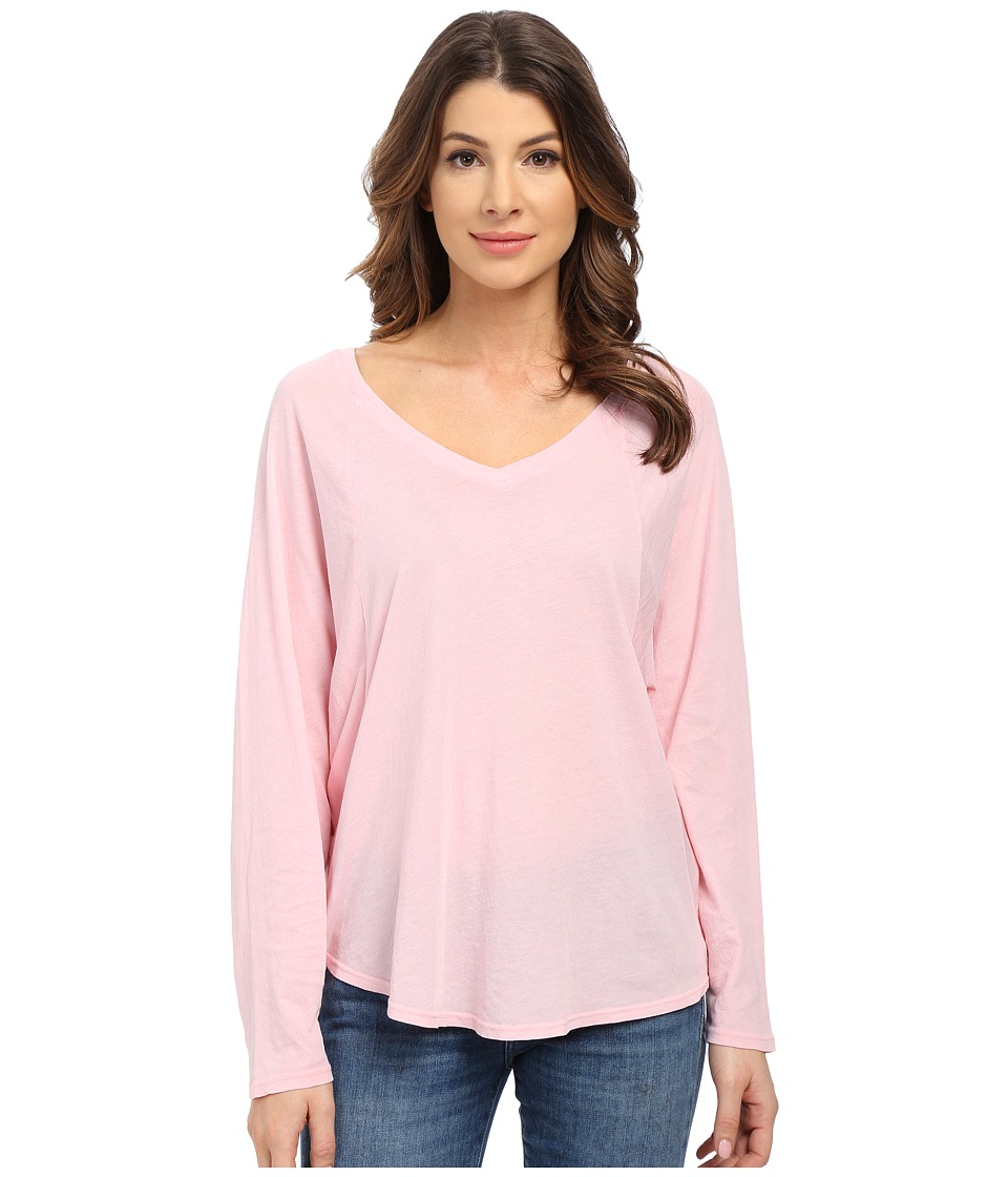 Splendid - Vintage Whisper V-Neck Long Sleeve (Vintage Blush) Women's Clothing