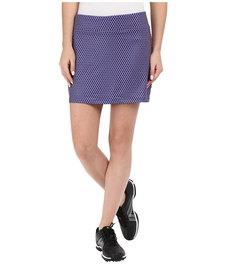 Nike Golf - Bogalicious Print Skort (Deep Royal Blue/Bright Crimson/Chalk Blue/Metallic Silver) Women's Skort