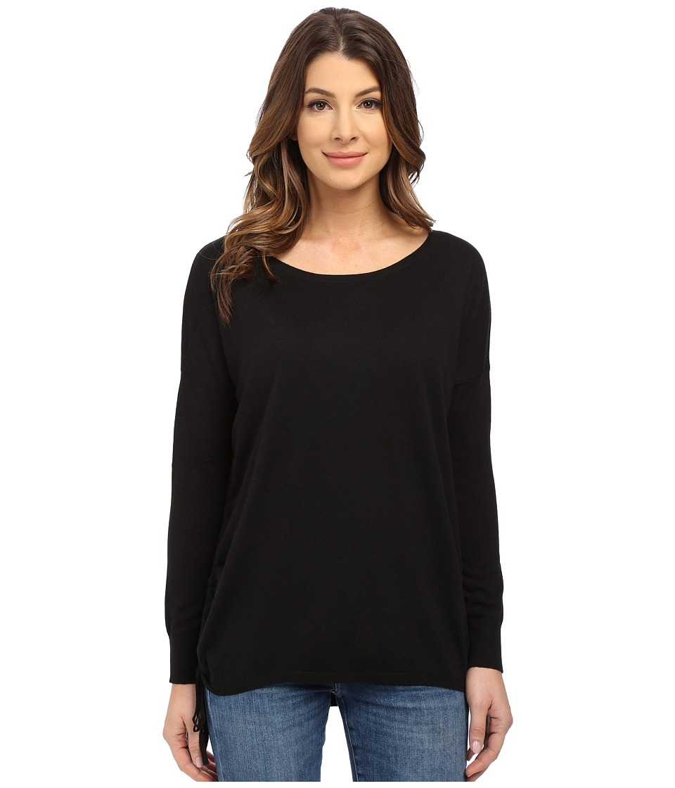 Splendid - Cashmere Blend Side Tie Sweater (Black) Women's Sweater