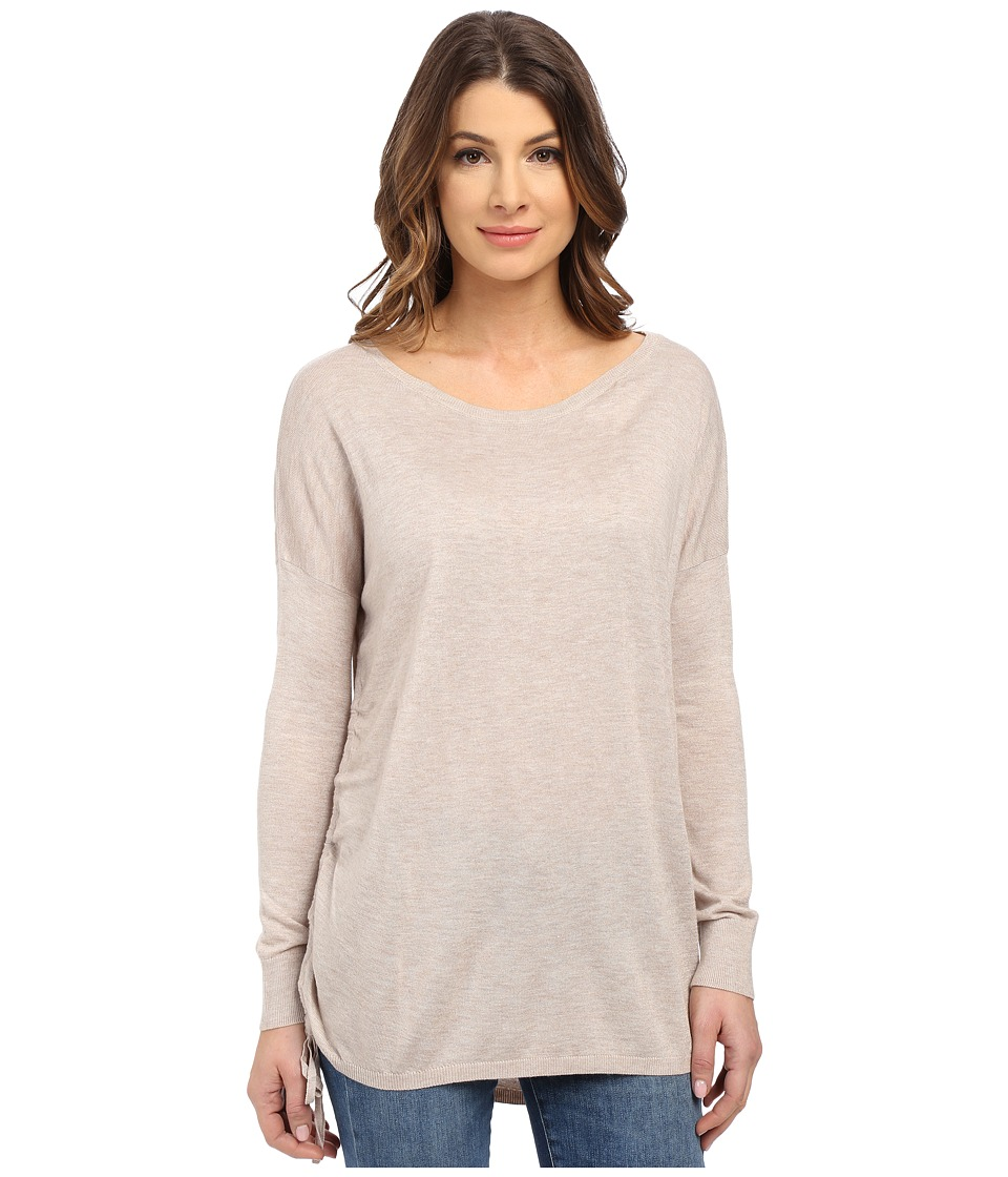 Splendid - Cashmere Blend Side Tie Sweater (Heather Wheat) Women's Sweater