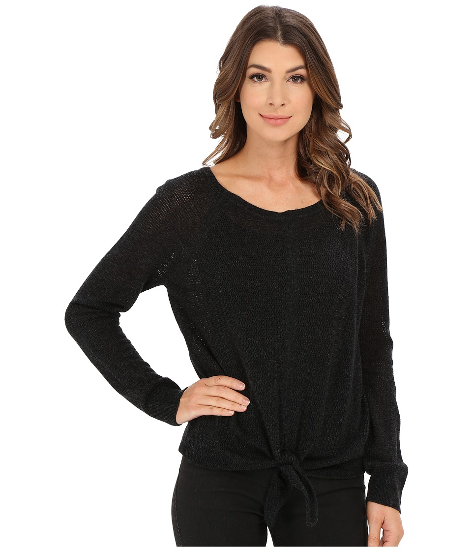 Splendid - Tie Front Sweater (Graphite) Women's Sweater