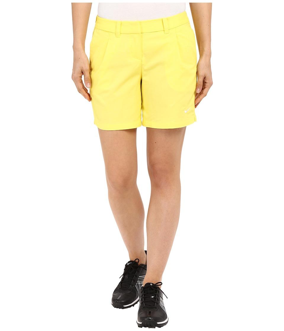 Nike Golf - Oxford Shorts (Optic Yellow/White) Women's Shorts