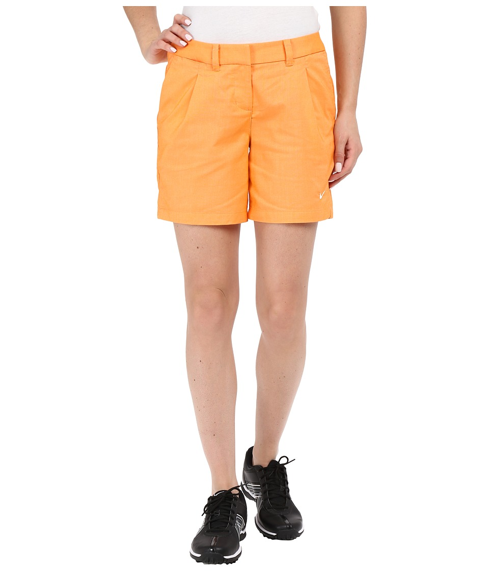 Nike Golf - Oxford Shorts (Vivid Orange/White) Women's Shorts