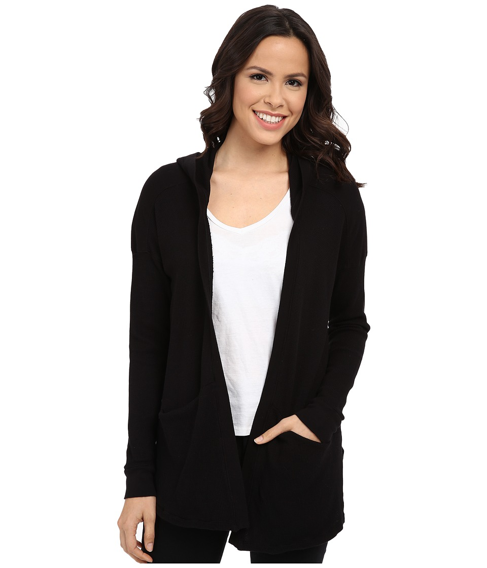 Splendid - Thermal Cardigan (Black) Women's Sweater