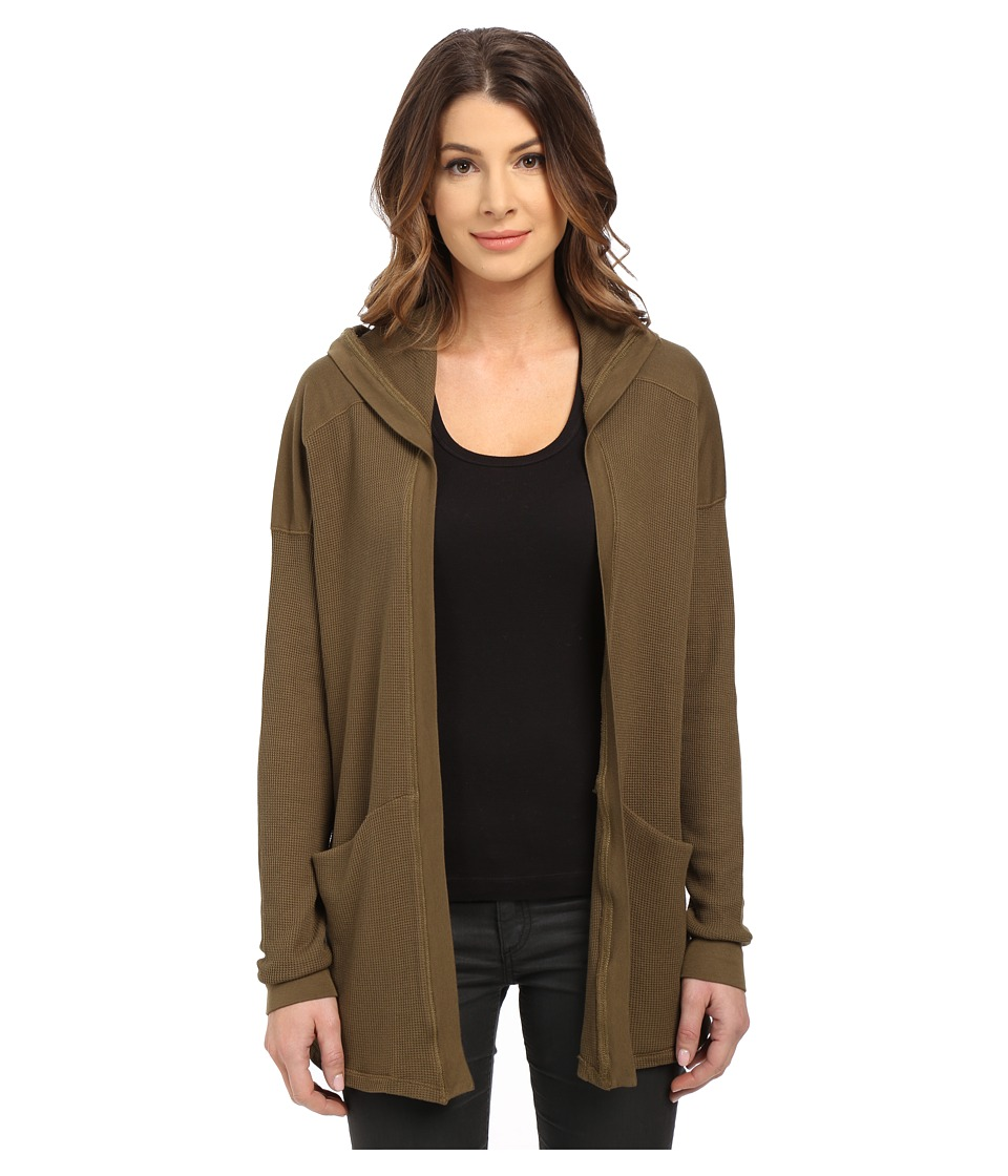 Splendid - Thermal Cardigan (Olive) Women's Sweater