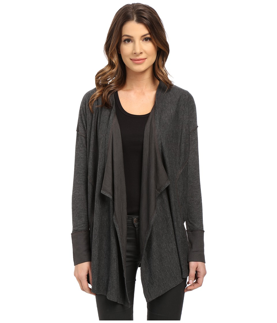 Splendid - Alcove Double Face Jersey Cardigan (Charcoal) Women's Sweater