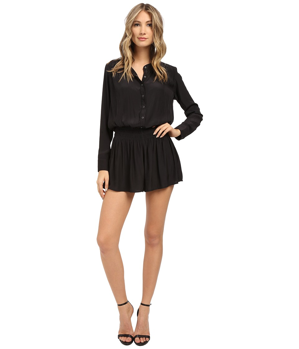 Splendid - Crossover Romper (Black) Women's Jumpsuit & Rompers One Piece