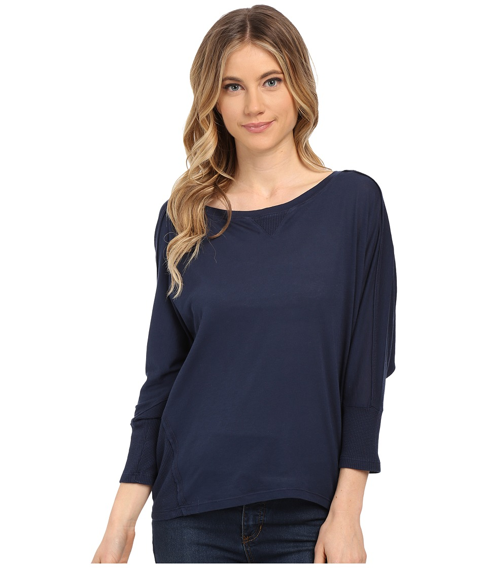Splendid Very Light Jersey with Thermal Dolman (Navy) Women