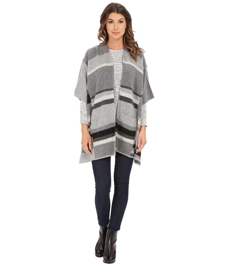 Splendid - Mismatch Stripe Wrap (Heather Cinder Combo) Women