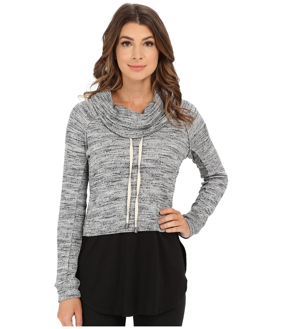 Splendid - Brushed Tri-Blend Poorboy Pullover (Heather Grey) Women's Clothing