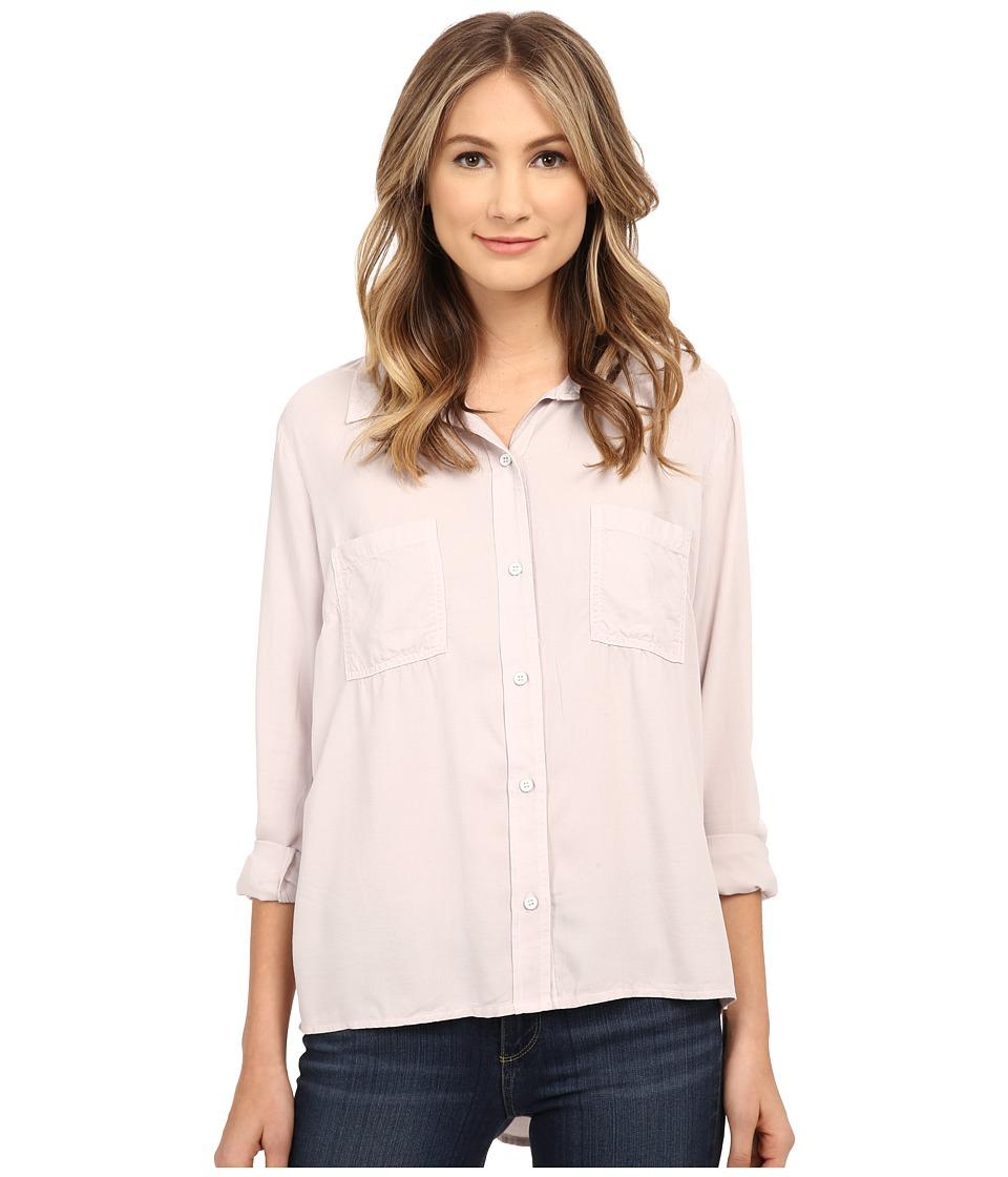 Splendid - Rayon Crosshatch Shirting (White Sand) Women's Blouse
